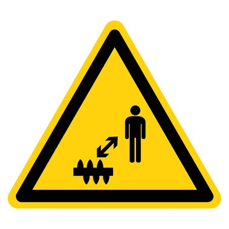 Warning Stay Away From Sharp Objects Symbol Sign ,Vector Illustration, Isolate On White Background Label. Vector Illustratie