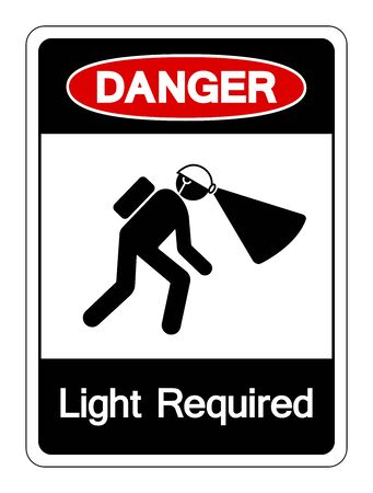 Danger Light Required Symbol Sign ,Vector Illustration, Isolate On White Background Label.
