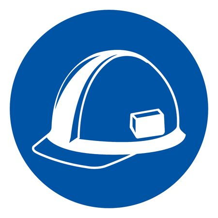 Head Protection Symbol Sign, Vector Illustration, Isolate On White Background Label. Vettoriali