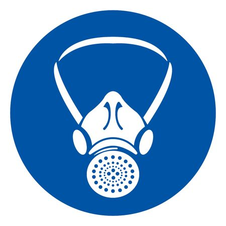 Respiratory Protection Symbol Sign, Vector Illustration, Isolate On White Background Label. Vecteurs