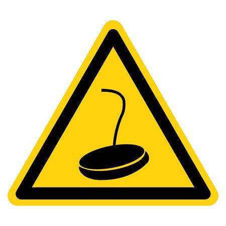 Warning Magnetic Cane Symbol Sign, Vector Illustration, Isolate On White Background Label .EPS10