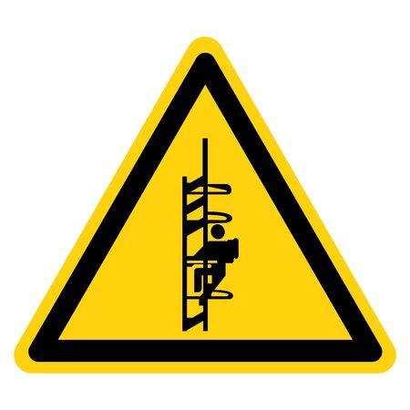 Warning Catwalk HazardS ymbol Sign, Vector Illustration, Isolate On White Background Label .EPS10