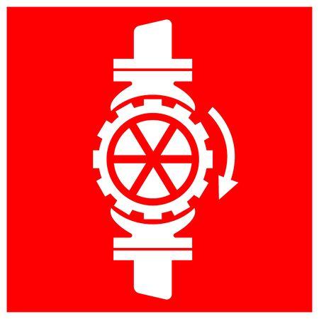 Sprinkler Stop Valve Symbol Sign, Vector Illustration, Isolate On White Background Label. EPS10