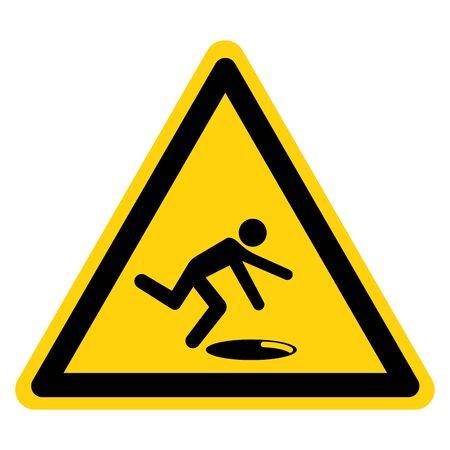 Warning Open Holes Symbol Sign, Vector Illustration, Isolate On White Background Label