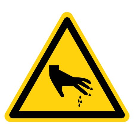 Warning Sharp Part Symbol Sign, Vector Illustration, Isolate On White Background Label .EPS10