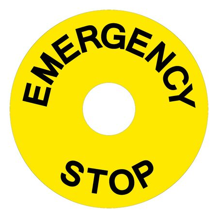 Emergency Stop Symbol Sign, Vector Illustration, Isolate On White Background Label.