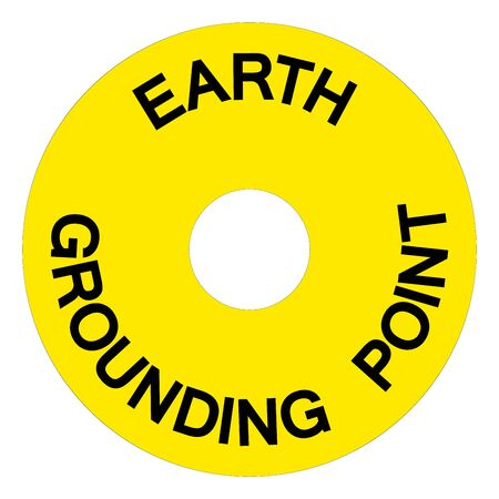 Earth Grounding Point Symbol Sign, Vector Illustration, Isolate On White Background Label.