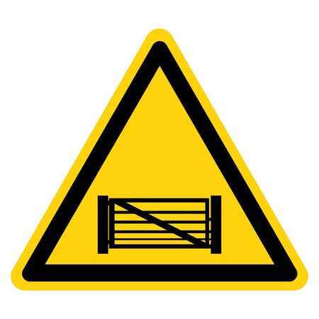 Warning Keep Gate Closed Symbol Sign, Vector Illustration, Isolate On White Background Label.