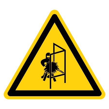 Warning Welding Screen Symbol Sign, Vector Illustration, Isolate On White Background Label.