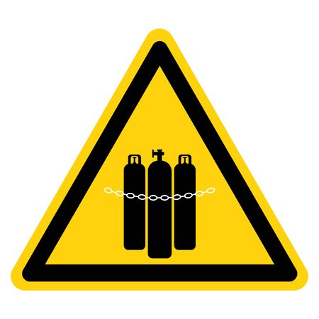 Warning Chained Cylinders Symbol Sign, Vector Illustration, Isolate On White Background Label. EPS10