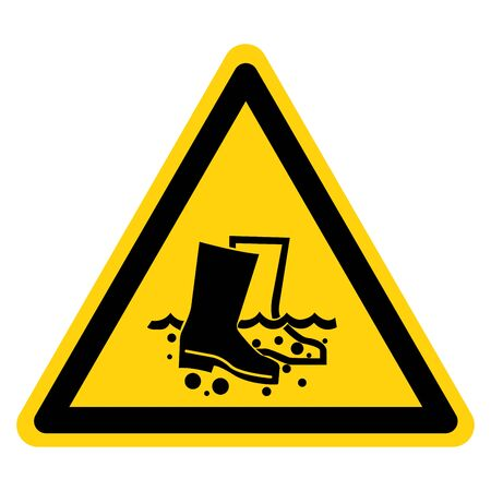 Warning Disinfect Boots Symbol Sign, Vector Illustration, Isolate On White Background Label.
