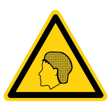 Warning Wear Hair Net Symbol Sign, Vector Illustration, Isolate On White Background Label.