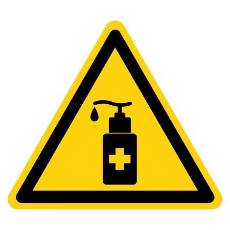 Sanitizer Symbol Sign ,Vector Illustration, Isolate On White Background Label. Иллюстрация