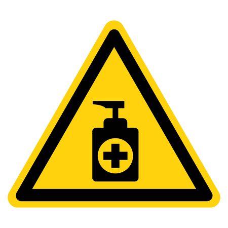 Sanitizer Symbol Sign ,Vector Illustration, Isolate On White Background Label. 向量圖像