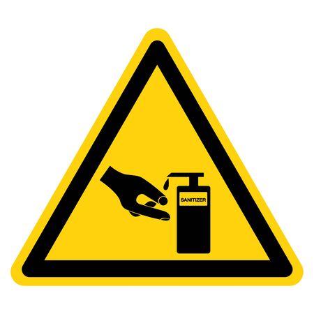 Use Hands Sanitizer Symbol Sign ,Vector Illustration, Isolate On White Background Label.