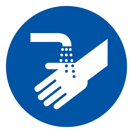 Please Wash Your Hand Symbol Sign,Vector Illustration, Isolated On White Background Label.