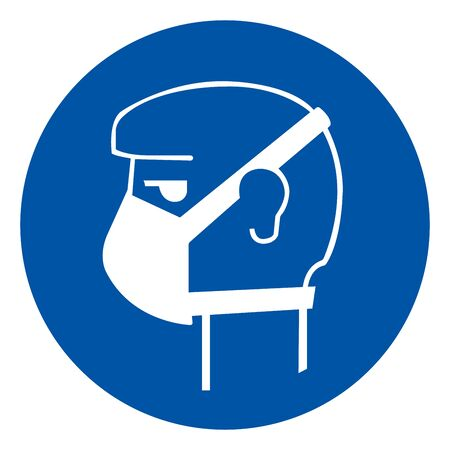 Wear Face Mask Symbol Sign, Vector Illustration, Isolate On White Background Label. Иллюстрация
