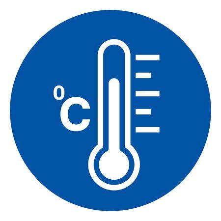 Fever Temperature Symbol Sign ,Vector Illustration, Isolate On White Background Label Illustration