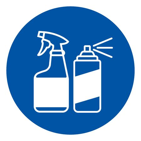 Disinfect Surface Symbol Sign, Vector Illustration, Isolate On White Background Label