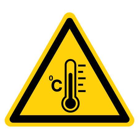 Warning Fever Temperature Symbol Sign ,Vector Illustration, Isolate On White Background Label . Illustration