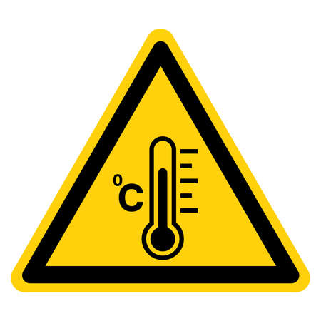 Warning Fever Temperature Symbol Sign ,Vector Illustration, Isolate On White Background Label . Иллюстрация