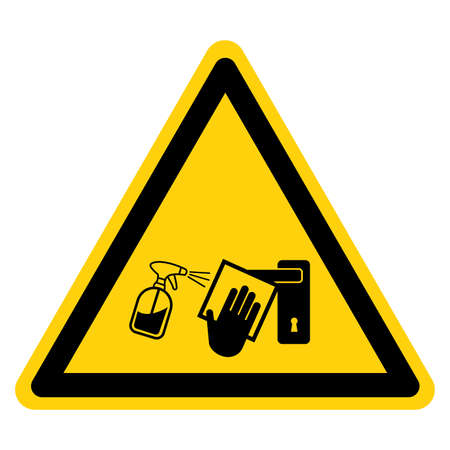 Clean High-Touch Surface Regularly Prevent Of Covid-19 Symbol Sign, Vector Illustration, Isolate On White Background Label .EPS10