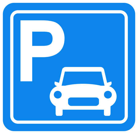 Car Parking Symbol Sign, Vector Illustration, Isolate On White Background Label.