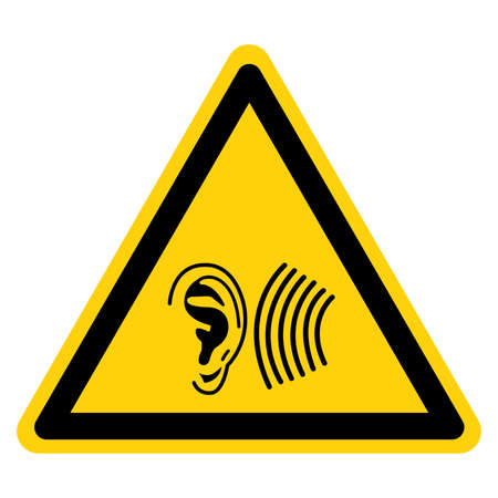 Warning High Noise Area Symbol Sign ,Vector Illustration, Isolate On White Background Label. EPS10