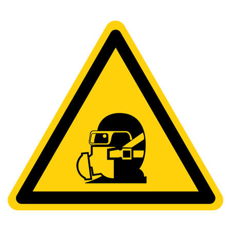 Wear Your Respirator Symbol Sign, Vector Illustration, Isolate On White Background Label .