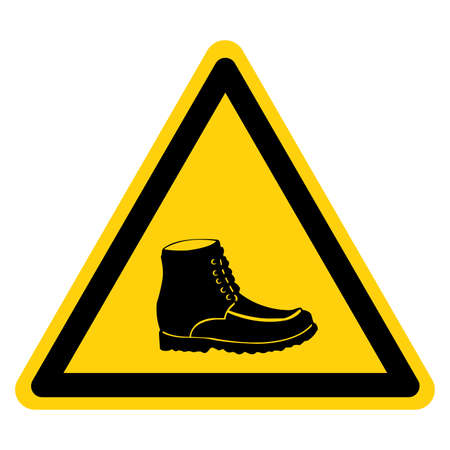 Closed Toe Shoes Required Symbol Sign, Vector Illustration, Isolate On White Background Label .