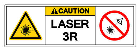 Caution Laser 3R Symbol Sign ,Vector Illustration, Isolate On White Background Label. EPS10