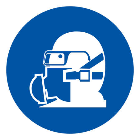 Wear Your Respirator Symbol Sign, Vector Illustration, Isolate On White Background Label .EPS10