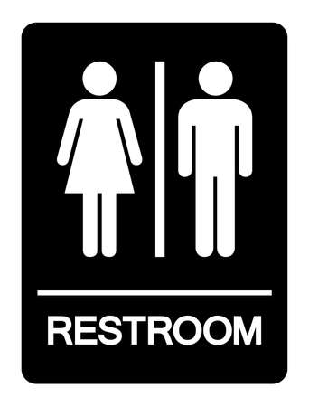 Restroom Symbol Sign, Vector Illustration, Isolate On White Background Label. EPS10