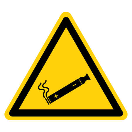 E-Cigarettes Allowed Symbol Sign ,Vector Illustration, Isolate On White Background Icon. EPS10  イラスト・ベクター素材