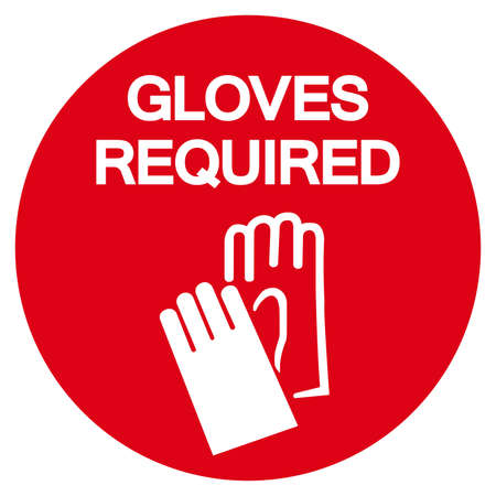 Gloves Required Symbol Sign, Vector Illustration, Isolate On White Background Label .EPS10