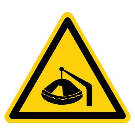 Warning life Raft Symbol Sign, Vector Illustration, Isolate On White Background Label .