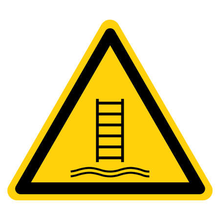 Warning Embarkation ladder Symbol Sign, Vector Illustration, Isolate On White Background Label .