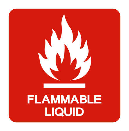 Flammable Liquid Symbol Sign ,Vector Illustration, Isolate On White Background Label. EPS10