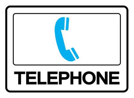 Telephone Symbol Sign, Vector Illustration, Isolated On White Background Label .EPS10 Illusztráció