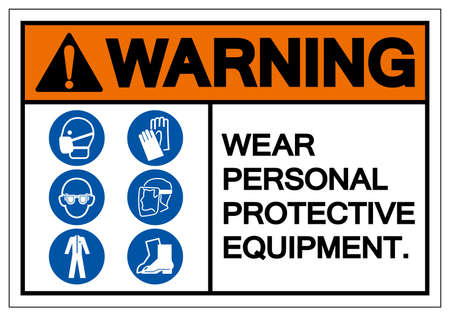 Warning Personal Protective Equipment Symbol Sign ,Vector Illustration, Isolate On White Background Label. EPS10
