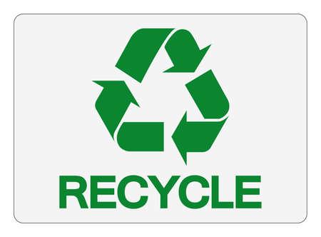 Recycle Symbol Sign,Vector Illustration, Isolated On White Background Label. EPS10 Illusztráció