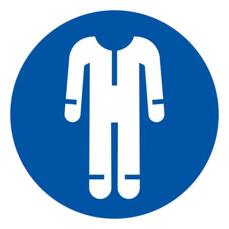 Wear Protective Clothing Symbol Sign ,Vector Illustration, Isolate On White Background Label. EPS10 Illusztráció