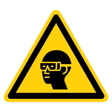 Warning Wear Chemical Goggles Symbol Sign ,Vector Illustration, Isolate On White Background Label. EPS10 Illusztráció