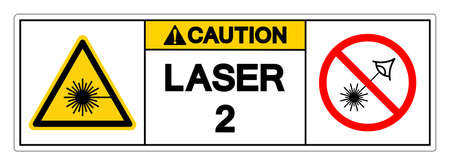Caution Laser 2 Symbol Sign ,Vector Illustration, Isolate On White Background Label. EPS10