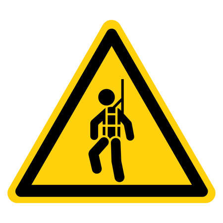 Warning Wear Safety Harness Symbol Sign ,Vector Illustration, Isolate On White Background Label.
