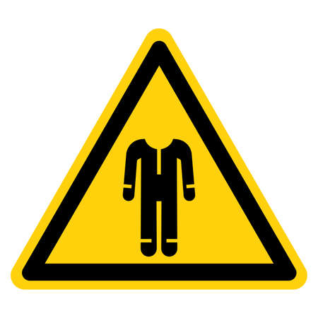 Warning Wear Protective Clothing Symbol Sign ,Vector Illustration, Isolate On White Background Label.