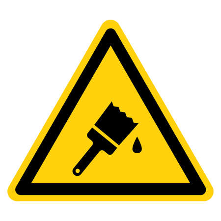 Warning Wet Paint Symbol Sign, Vector Illustration, Isolate On White Background Label. Иллюстрация