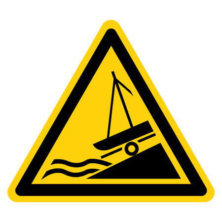 Warning Slipway Symbol Sign, Vector Illustration, Isolate On White Background Label.