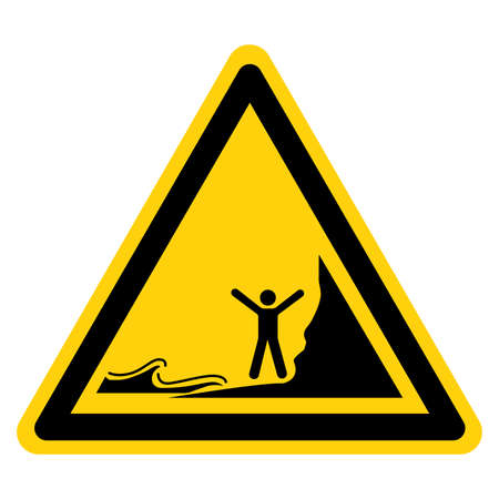 Warning Watch Out Don't Be Stranded By Incoming Tides Symbol Sign, Vector Illustration, Isolate On White Background Label.