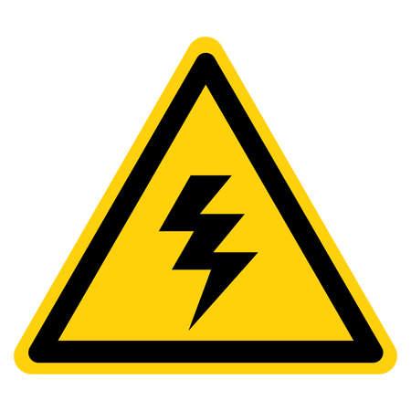 Warning High Voltage Symbol Sign, Vector Illustration, Isolate On White Background Label.